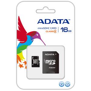 Card ADATA Micro SDHC 16GB clasa 4 + adaptor SD AUSDH16GCL4-RA1