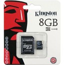 Card Kingston MicroSDHC 8GB Clasa 4 + Adaptor SD SDC4/8GB