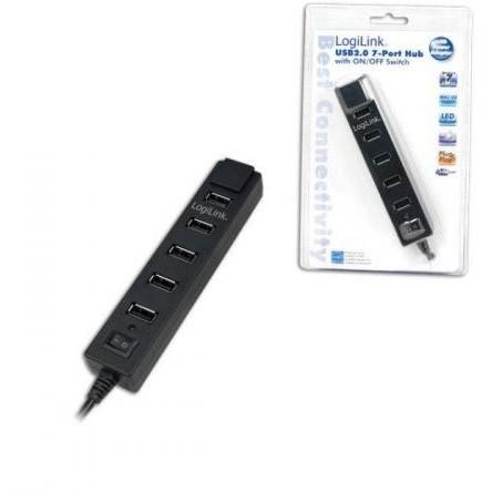 Hub USB HUB USB 2.0 extern 7 porturi cu alimentare 3.5A thumbnail