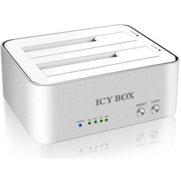 Rack Hdd Rack Icy Box Ib-120cl-u3 Alb/argintiu