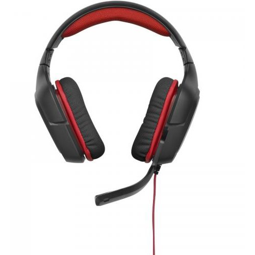 Casti Gaming G230 Stereo Gaming Headset Black-red