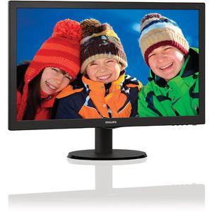 Monitor Philips LED 203V5LSB26/10 19.5 inch Black