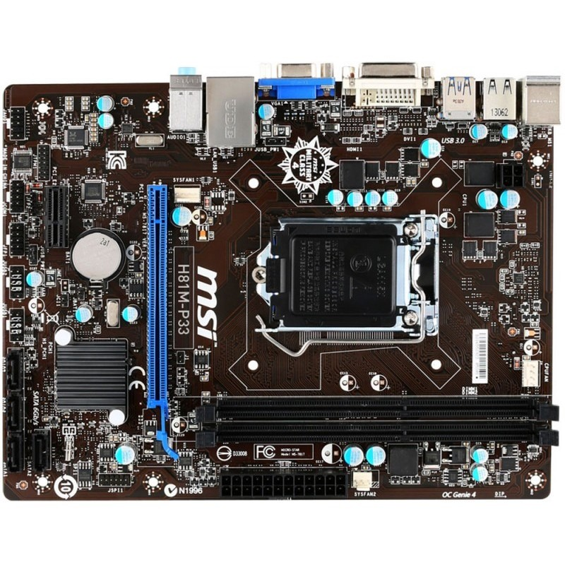 Placa De Baza H81m-p33 Intel Lga1150 Matx
