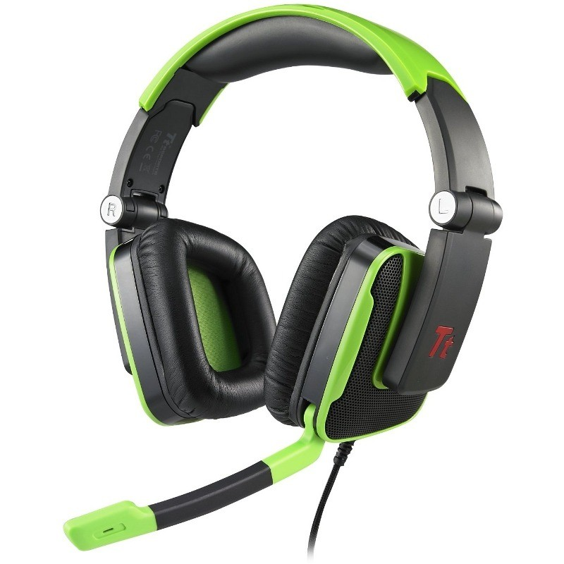 Casti gaming Gaming Over-Head Tt eSports Console One Black-Green thumbnail