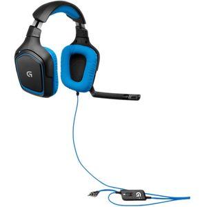 Casti Logitech Over-Head G430 Black-Blue