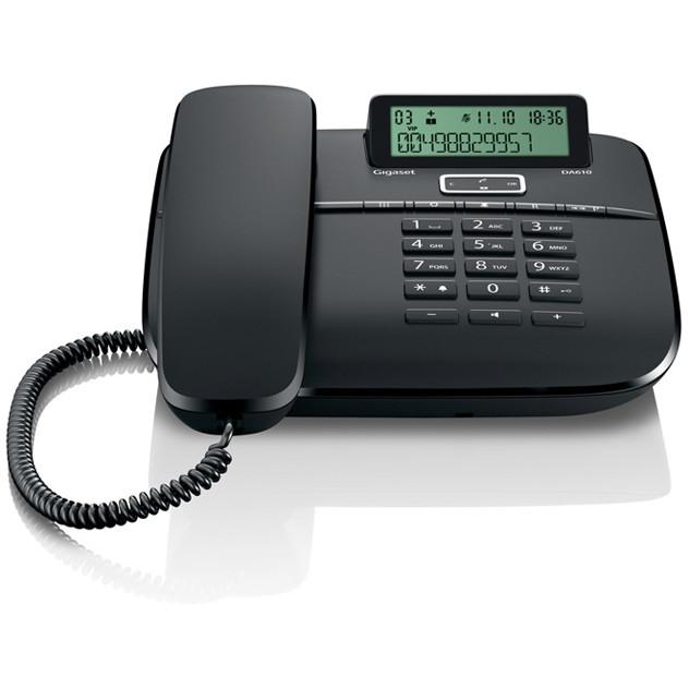 Telefon fix DA610 fara fir Negru thumbnail