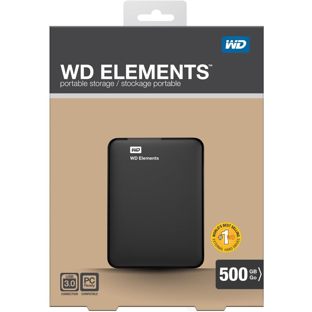 Hard Disk Extern Elements 500gb 2.5 Usb 3.0 Black