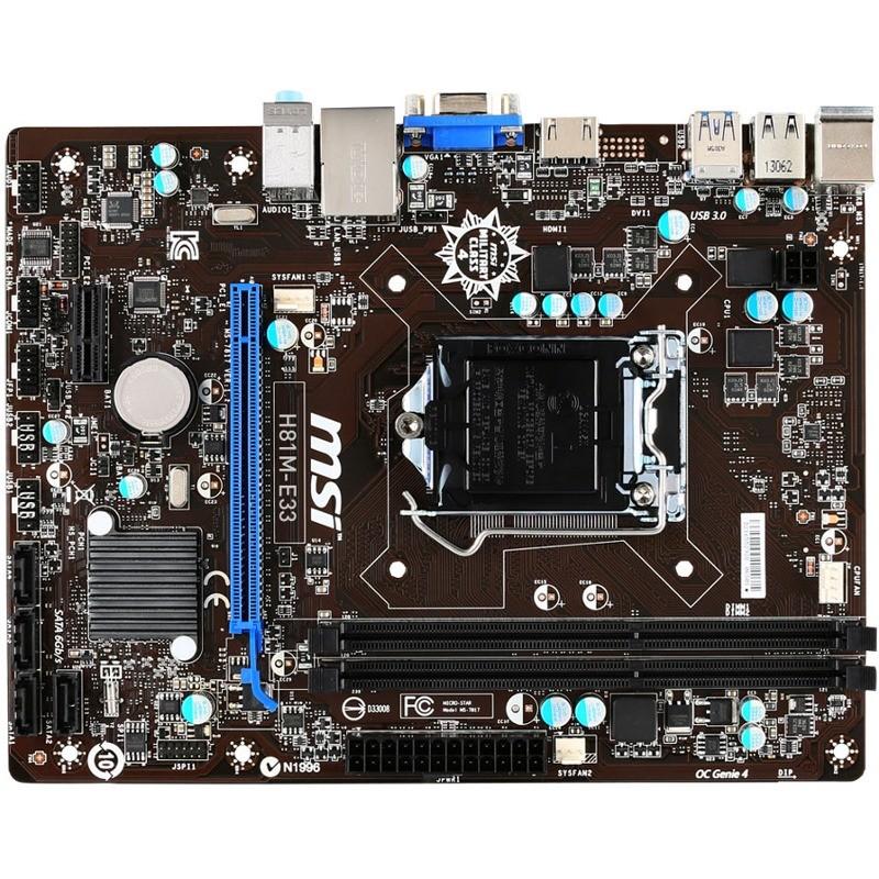 Placa De Baza H81m-e33 Intel Lga1150 Matx