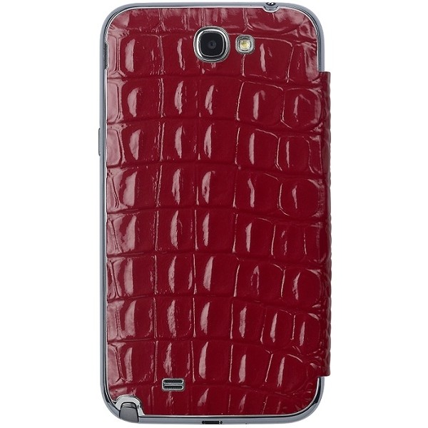 Flip Cover Bamf000krd Me-in Mirror Croco Rosu Pentru Samsung Note2 N7100