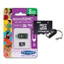 MicroSD 8GB cu cititor de carduri