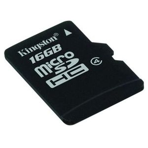 Card Kingston Micro SDHC 16GB Clasa 4 + adaptor SD SDC4/16GB