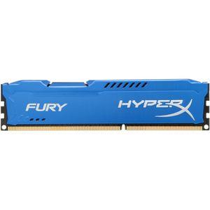 Kit Memorie HyperX Fury 8GB DDR3 1600 MHz CL10 Dual Channel Radiator Albastru