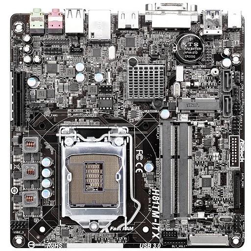 Placa De Baza H81tm-itx Intel Lga1150 Mitx