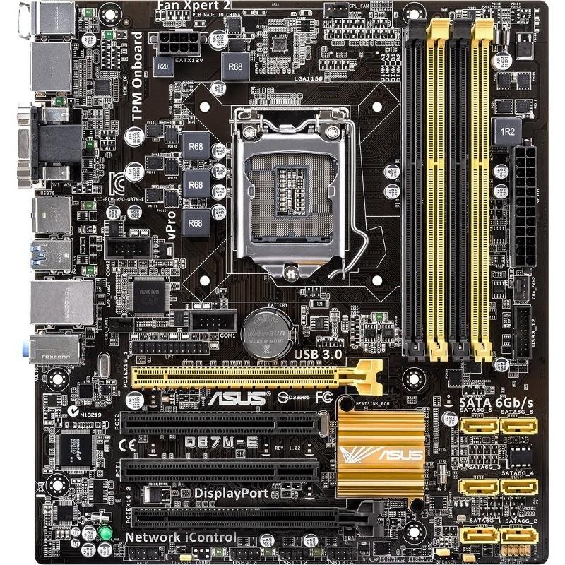 Placa De Baza Q87m-e Intel Lga1150 Matx