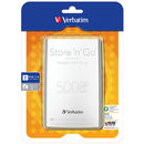 Store n Go Ultra Slim 500GB 2.5 inch USB 3.0 Silver