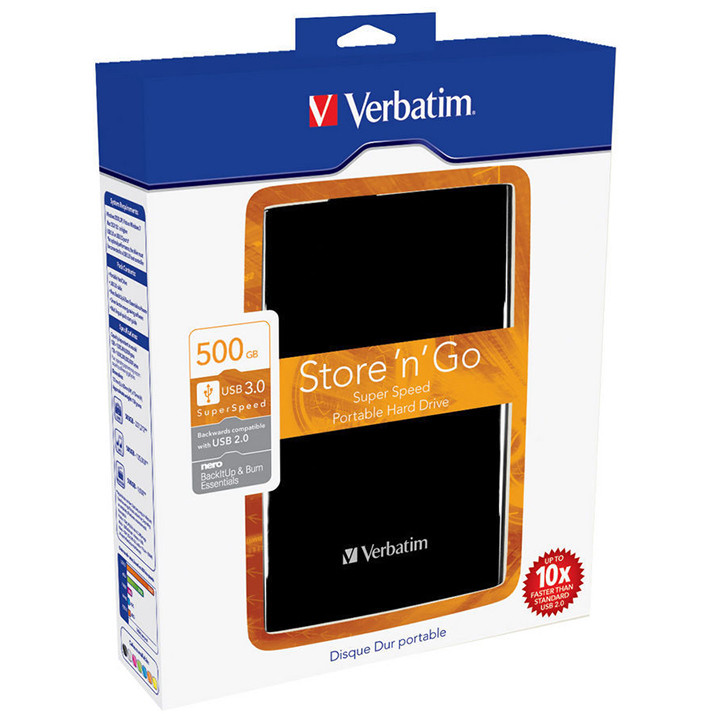 Hard Disk Extern Store N Go 500gb 2.5 Inch Usb 3.0 Black