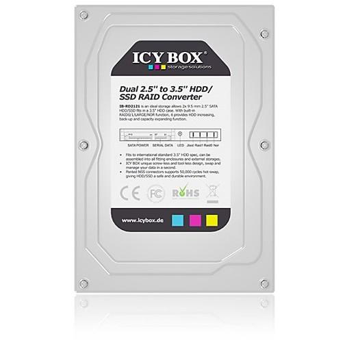 Rack Hdd Icy Box Ib-rd2121sts 2 Hdd 2.5 Inch Sata Raid Silver