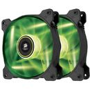 Air Series SP120 Green LED High Static Pressure Fan Twin Pack