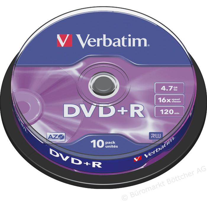 Mediu optic DVD+R pack 10 bucati thumbnail