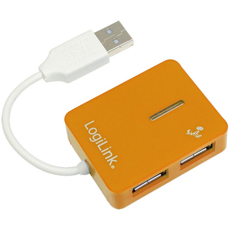 Hub USB UA0137 USB 2.0 4 porturi Smile Orange thumbnail