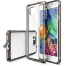 Husa Protectie Spate Ringke FUSION Smoke Black plus folie protectie pentru Samsung Galaxy Alpha
