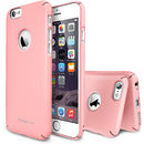 Slim Pink Logo Cut plus folie protectie pentru Apple iPhone 6