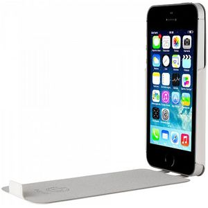 Husa Flip Cover Bugatti UltraThin Geneva alba pentru Apple iPhone 5 / 5S