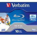 Mediu optic Verbatim BluRay BD-R DL 6x printabil 10 bucati