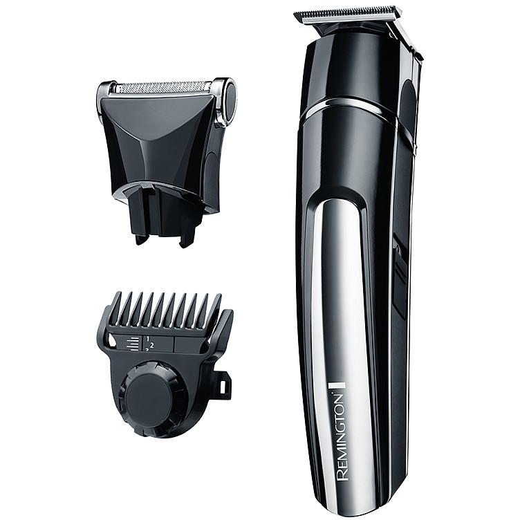 Set de tuns barba si mustata MB4110 Beard Trimmer Stubble Kit Negru / Gri