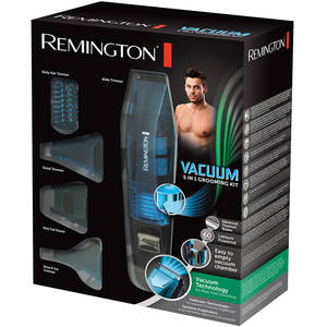 Set de ingrijire personala Remington PG6070 E51 Vacuum 5 in 1 Grooming Kit Negru / Albastru
