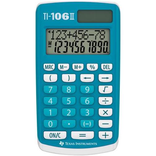 Calculator de birou TI-106 II 10 cifre albastru thumbnail