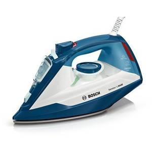 Fier de calcat Bosch TDA3024110 2400W 0.32 litri Talpa Ceranium-Glissee Alb/Albastru
