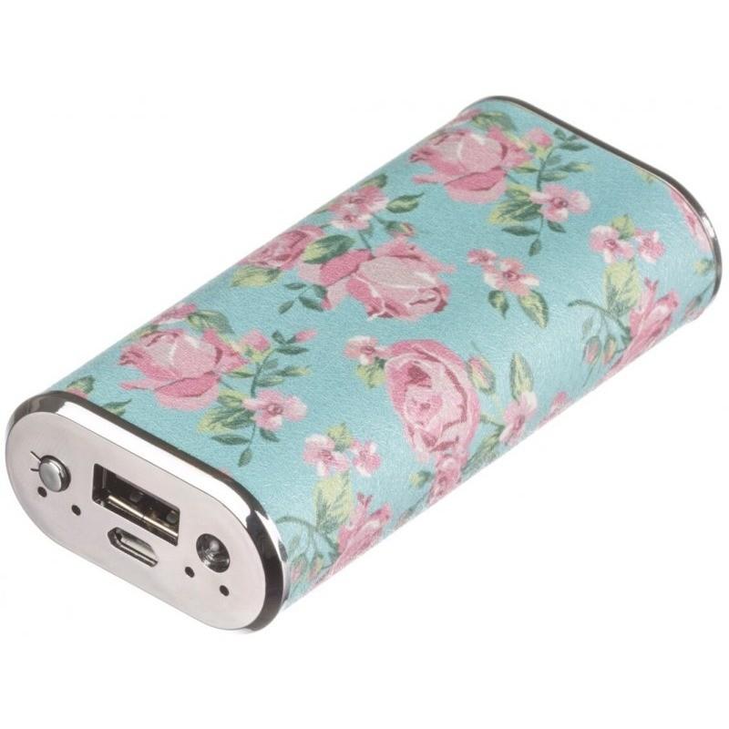 Acumulator extern Fashion Floral 4000 mAh LED indicator status baterie