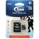 microSDHC 4GB Clasa 4 cu adaptor SD