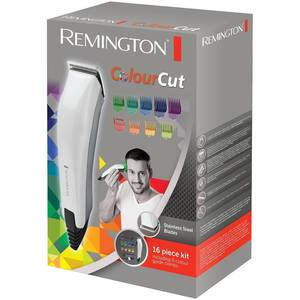 Masina de tuns Remington HC5035 ColourCut Lame Inox alimentare la retea 1.5-25 mm Alb / Gri