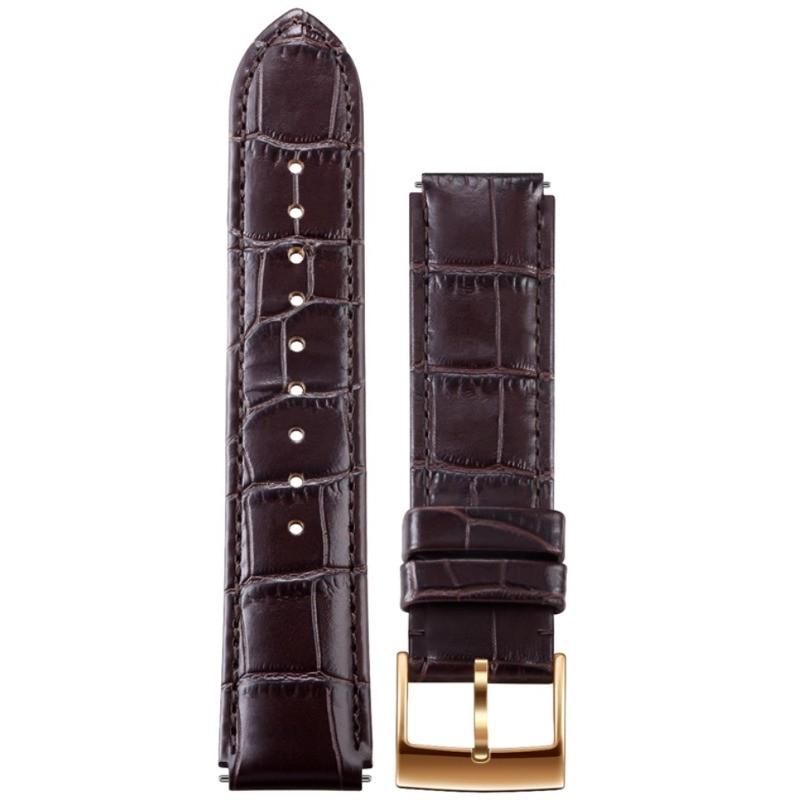 Curea Smartwatch Watch W1 Brown Leather Strap