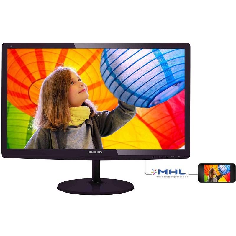Monitor Led 247e6qdad/00 23.6 Inch 5ms Black