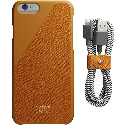 Husa Protectie Spate Clic Leather Aurie Plus Cablu