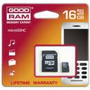 microSDHC 16GB cu adaptor SD