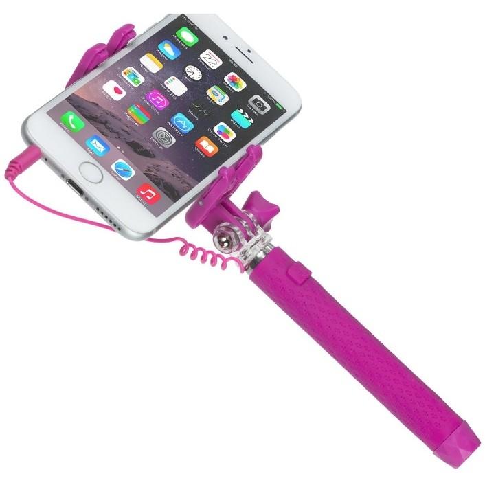 Selfie Stick KVPKSSWPI roz extensibil de buzunar cu control actionare shutter pe fir thumbnail