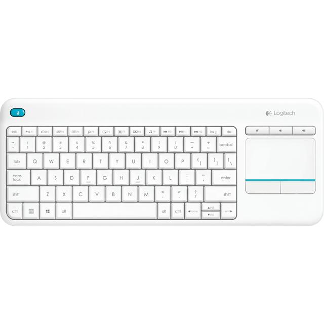 Tastatura Wireless K400 Plus Alba thumbnail