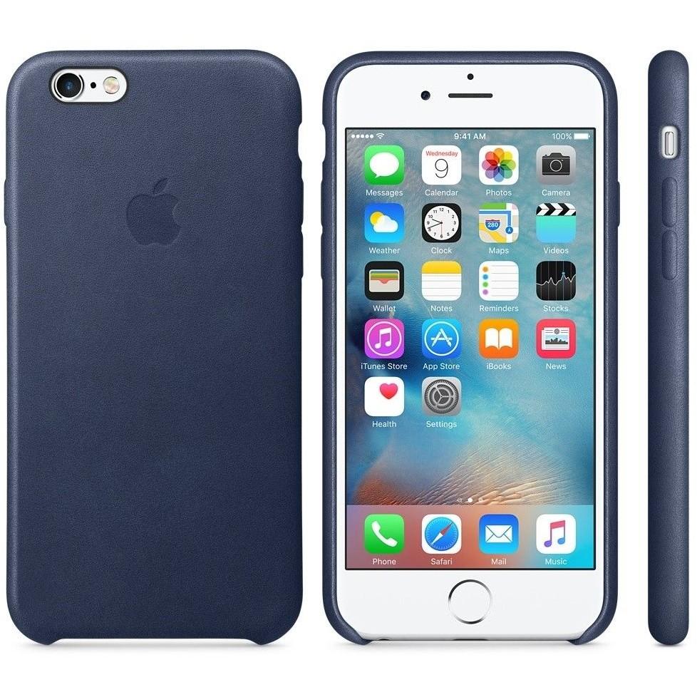 Husa Protectie Spate Leather Case Albastru Midnigh Pentru Tiphone 6s