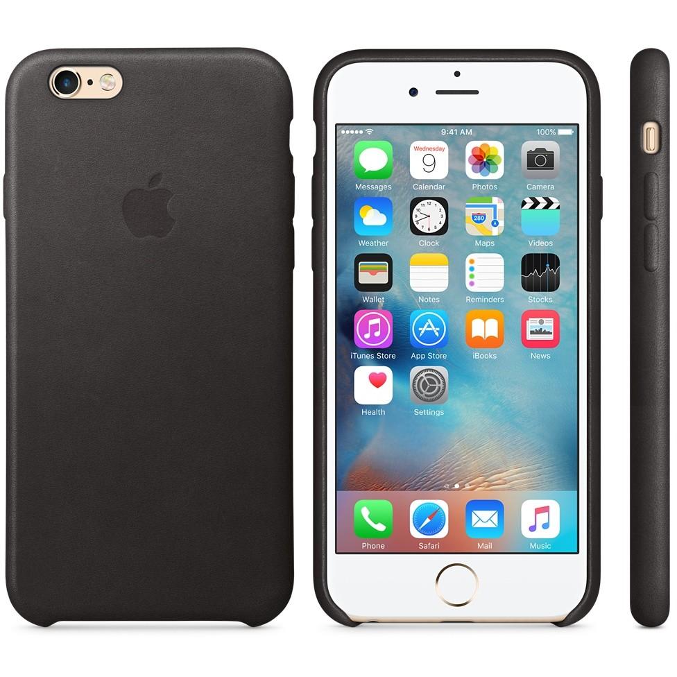 Husa Protectie Spate Leather Case Neagra Pentru Tiphone 6s