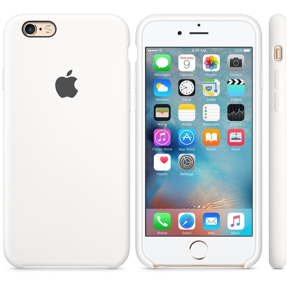 Husa Protectie Spate Silicone Case Alb Pentru Tiphone 6s Plus