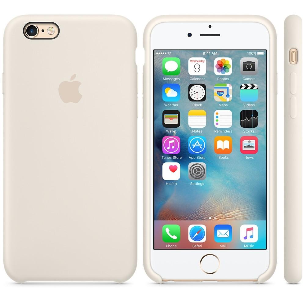Husa Protectie Spate Silicone Case Alb Antique Pentru Tiphone 6s Plus