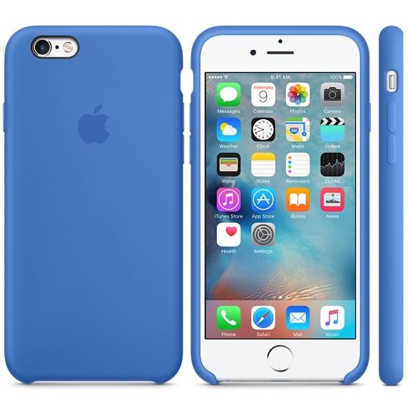 Husa Protectie Spate Silicone Case Albastru Pentru Tiphone 6s Plus