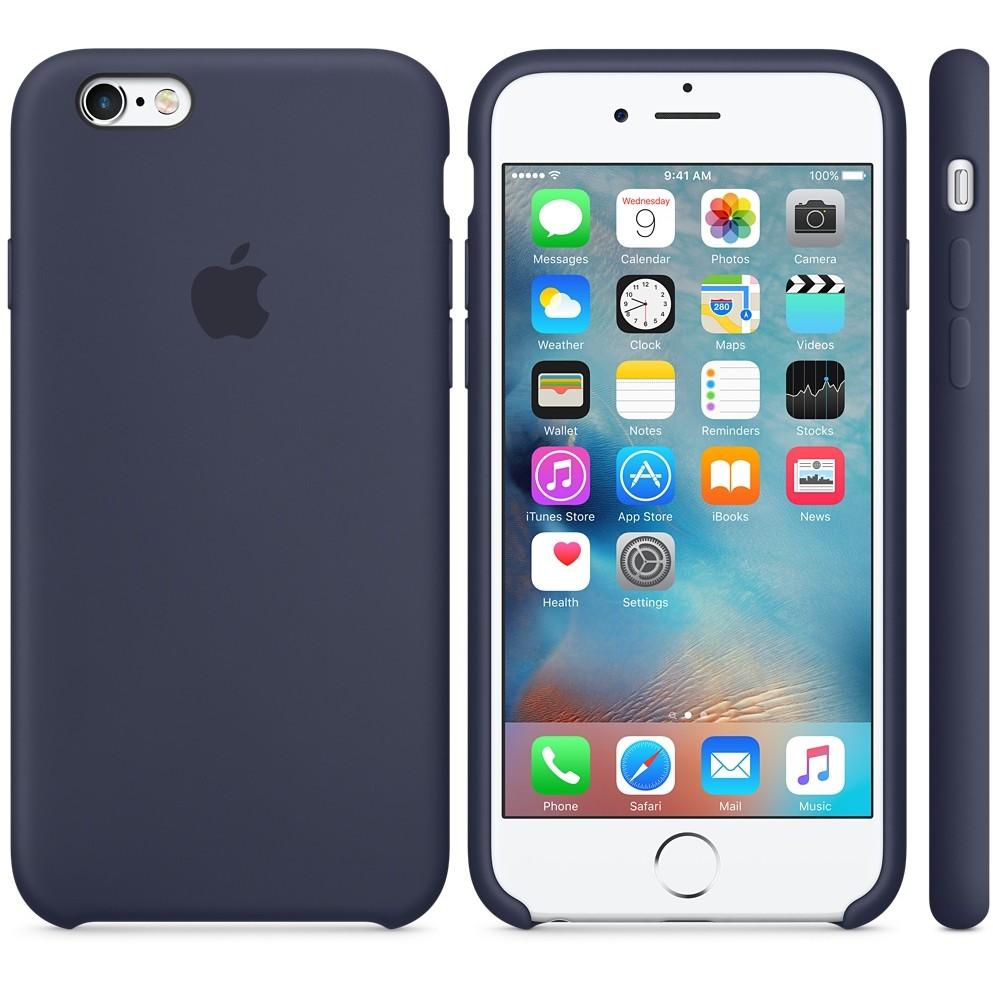 Husa Protectie Spate Silicone Case Albastru Midnight Pentru Tiphone 6s Plus