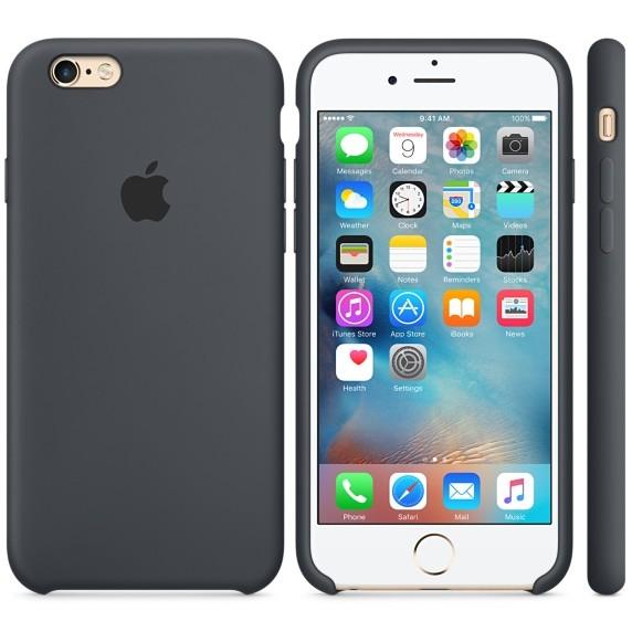 Husa Protectie Spate Silicone Case Gri Charcoal Pentru Tiphone 6s Plus