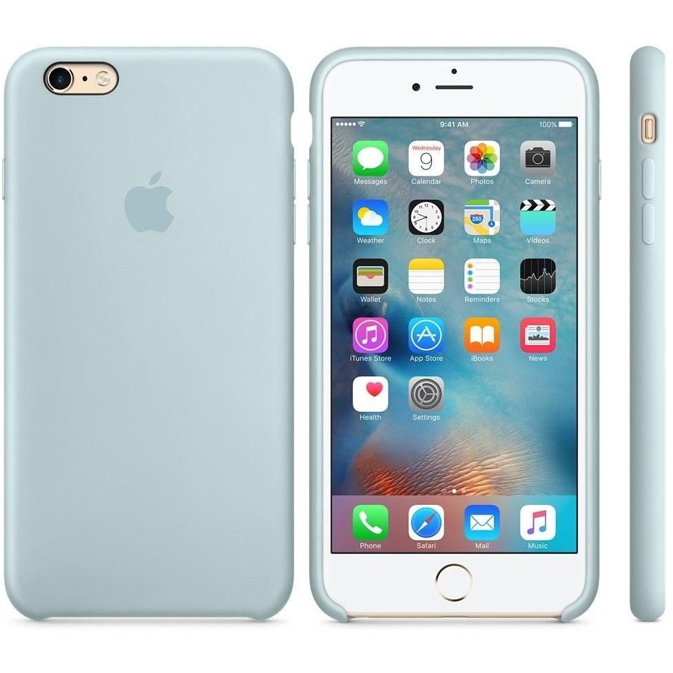 Husa Protectie Spate Silicone Case Turcoaz Pentru Tiphone 6s Plus