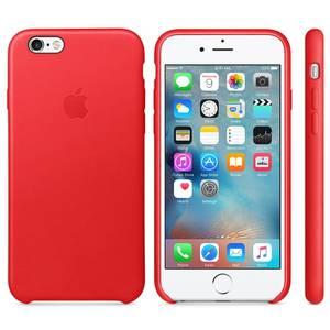 Husa Protectie Spate Apple Leather Case Red pentru iPhone 6s